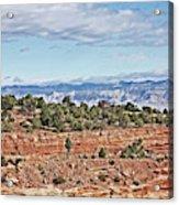 Colorado Blue Sky Red Rocks Clouds Trees 2 10212018 2857 Colorado  Acrylic Print