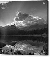 Colorado Mountain Lake In Black And White Acrylic Print