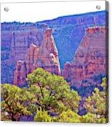 Colorado National Monument Colorado Blue Sky Red Rocks Clouds Trees 2 10212018 2871.jpg Acrylic Print