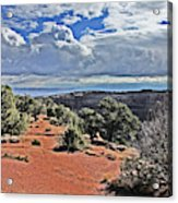 Colorado National Monument Trees Rock Formations Clouds 3001 Acrylic Print