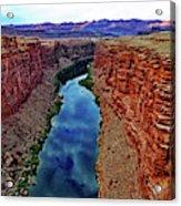 Colorado River From The Navajo Bridge 001 Acrylic Print