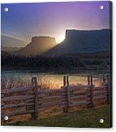 Colorado River Sunrise, Moab, Utah, Usa Acrylic Print