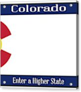 Colorado State License Plate Acrylic Print