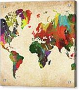Colored World Map Xxxl Acrylic Print