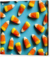 Colorful Candy Corn For Halloween On A Acrylic Print