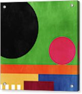 Colorful Geometric Abstract 4- Art By Linda Woods Acrylic Print