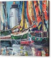 Colorful Harbor Acrylic Print