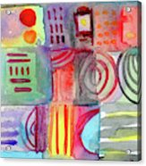 Colorful Patchwork 1- Art By Linda Woods Acrylic Print
