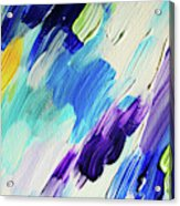 Colorful Rain Fragment 1. Abstract Painting Acrylic Print