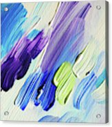 Colorful Rain Fragment 2. Abstract Painting Acrylic Print