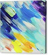 Colorful Rain Fragment 5. Abstract Painting Acrylic Print