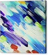 Colorful Rain Fragment 6. Abstract Painting Acrylic Print