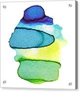 Colorful Watercolor Paint Paper Texture Acrylic Print