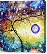 Colorful Whimsical Original Landscape Tree Painting Purple Reign By Megan Duncanson Acrylic Print