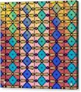 Coloured Glass Window Acrylic Print