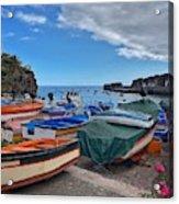 Colourful Boats Acrylic Print