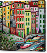 Colours of Riomaggiore Cinque Terre Acrylic Print