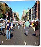 Columbus Day On Amsterdam Ave. Upper West Side, New York 2008 Acrylic Print