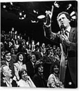 Comedian David Letterman Warms Up Tv Acrylic Print