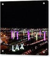 Coming And Going In The Heart Of L A At Night-time Acrylic Print