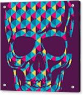 Conceptual Human Skull. Vector Acrylic Print