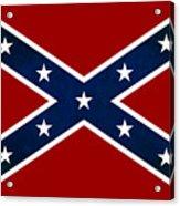 Confederate Stars And Bars T-shirt Acrylic Print
