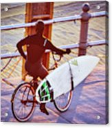 Contemplating The Surf Acrylic Print