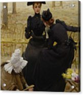 Conversation In The Jardin Du Acrylic Print
