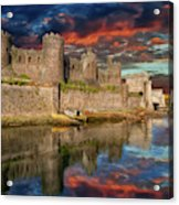 Conwy Castle Sunset Acrylic Print