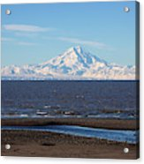 Cook Inlet And The Alaska Range From Ninilchik Acrylic Print