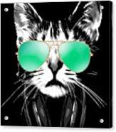 Cool DJ Cat Acrylic Print