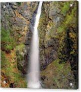 Copper Creek Falls Warm Light Acrylic Print