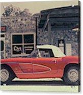 Corvette Cafe - C1 - Vintage Film Acrylic Print