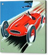 Cote D Azur, French Rivera Vintage Racing Poster Acrylic Print