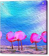 Cotton Candy Trees Acrylic Print
