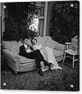 Couple At Party Acrylic Print