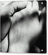 Couple Holding Hands, Close-up Of Hands Acrylic Print