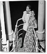 Couple In Evening Wear Acrylic Print