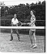 Couple Playing Tennis Acrylic Print