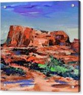 Courthouse Butte Rock - Sedona Acrylic Print