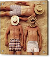 Covered Faces Acrylic Print