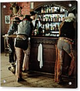 Cowboys At Saloon Acrylic Print