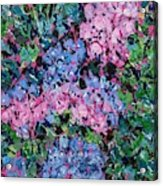 Cozy Hydrangeas Acrylic Print