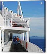 Cozy Walk -  Painterly Ferry To Victoria Acrylic Print