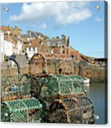 Crail Harbour And Lobster Pots Acrylic Print