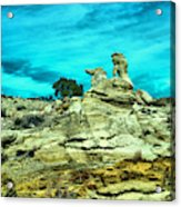 Crazy Rock Formations In New Mexico Acrylic Print