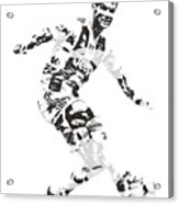 Cristiano Ronaldo Juventus Pixel Art 1 Acrylic Print
