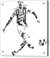 Cristiano Ronaldo Juventus Water Color Pixel Art 1 Acrylic Print