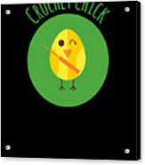 Crochet Chick Acrylic Print