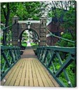 Crossing The Kissing Bridge Acrylic Print